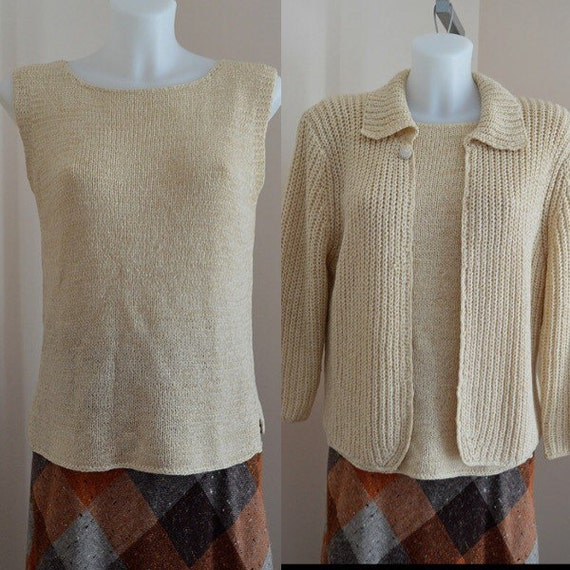 Vintage 1990s April Cornell Natural Camisole Sweat