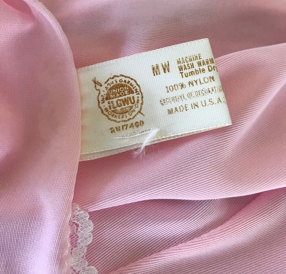 Vintage Pink Slip, Vintage Pink Full Slip, 1960s … - image 10