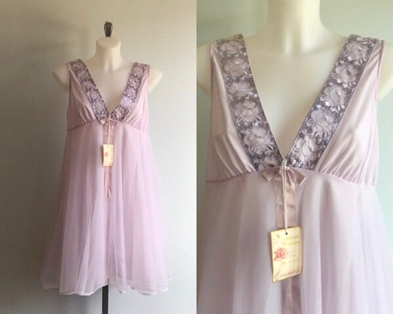 Vintage Chiffon Nightgown, Vintage Nightgowns, Que