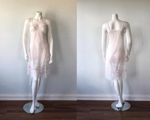 Vintage Pink Full Slip, 1960s Full Slip, Confezion