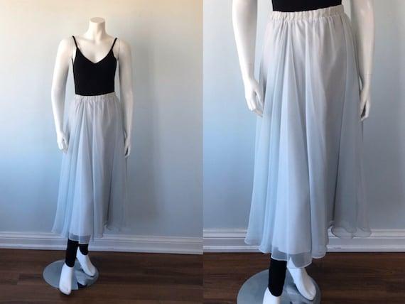 Vintage Chiffon Skirt, Chiffon Skirt, 1980s Chiffo