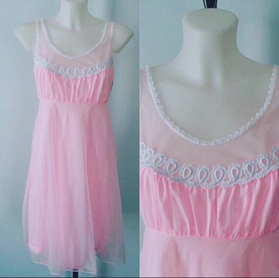 Vintage Nightgown, Vintage Lingerie, 1960s Lov Lee