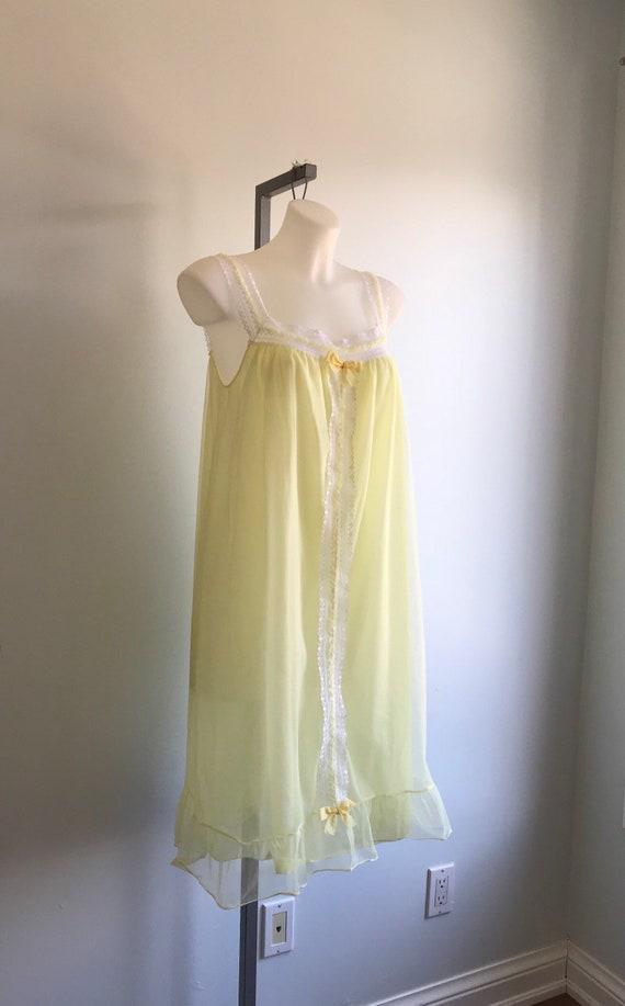 Vintage Chiffon Nightgown, 1960s Chiffon Nightgow… - image 4