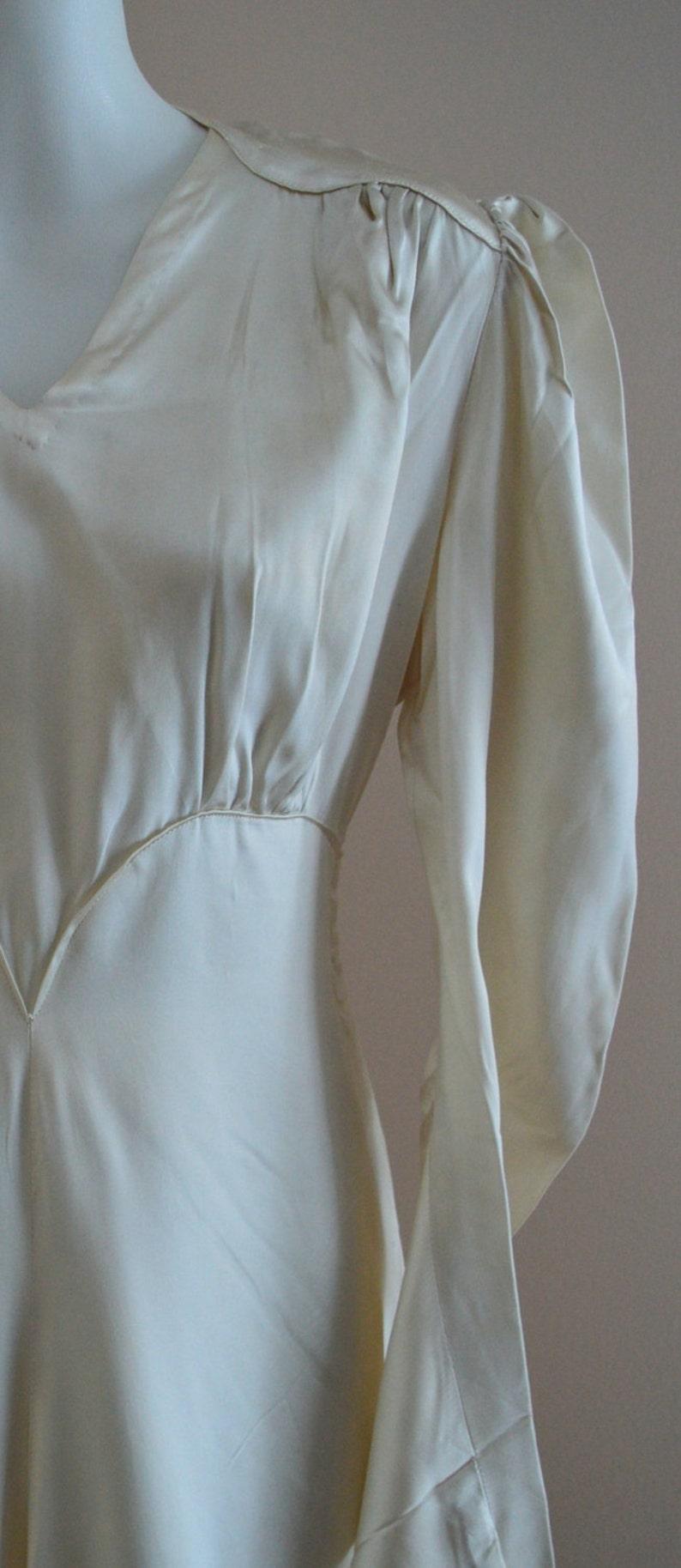Wedding Dress Satin Wedding Dress Vintage 1920s Mother of Pearl Heavy Satin Wedding Dress 1920s Dress 1920s Wedding Dress