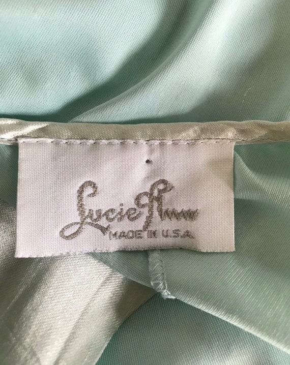 Vintage Lucie Ann Nightgown, Mint Green Nightgown… - image 7