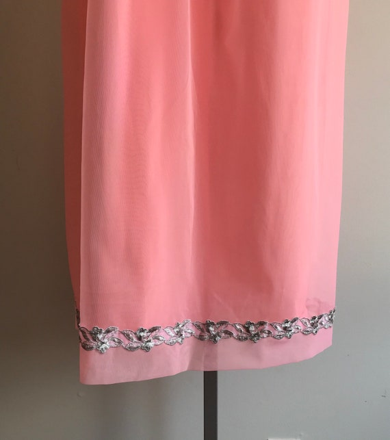 1960s Pink Chiffon Nightgown, Canadian Maid, 1960… - image 5