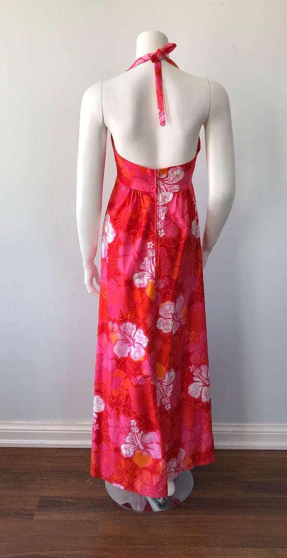 Vintage Halter Dress, Wika of Hawaii Ltd, 1960s H… - image 8