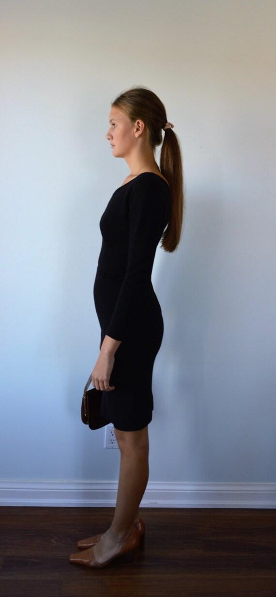 Vintage Black Dress, 1950s Black Dress, Black Coc… - image 3
