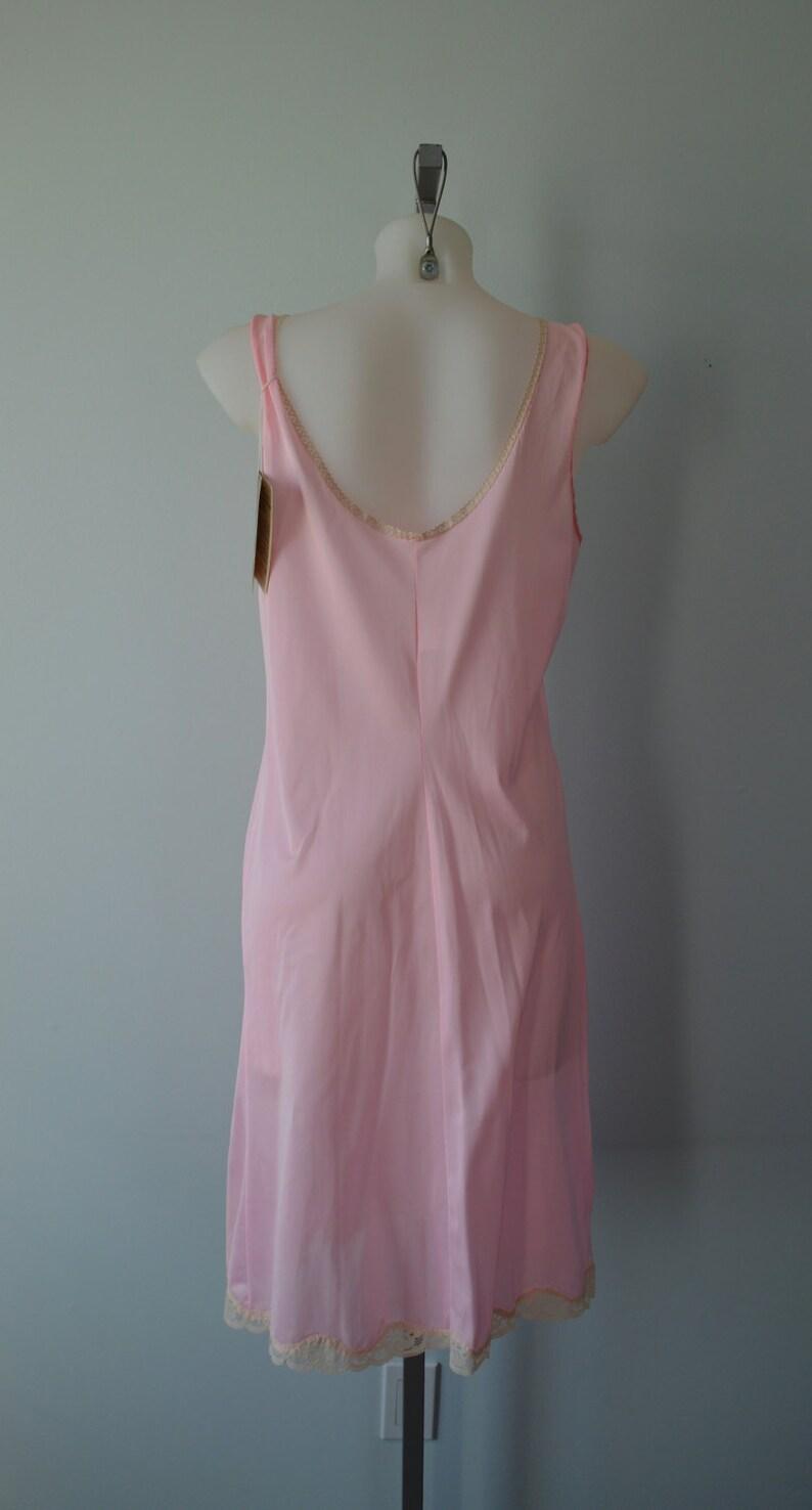 Vintage Lingerie Vintage Slip New Dead Stock Pink Full Slip Vintage Pink Slip Vintage 1970s Burlington\u2019s Burmilaire Full Slip