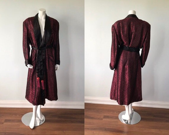 Vintage Robe, 1930s Robe, Smoking Robe, Brocade Ro