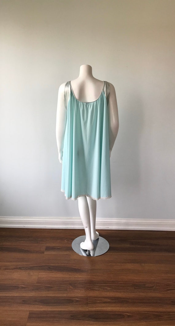 Vintage Lucie Ann Nightgown, Mint Green Nightgown… - image 6