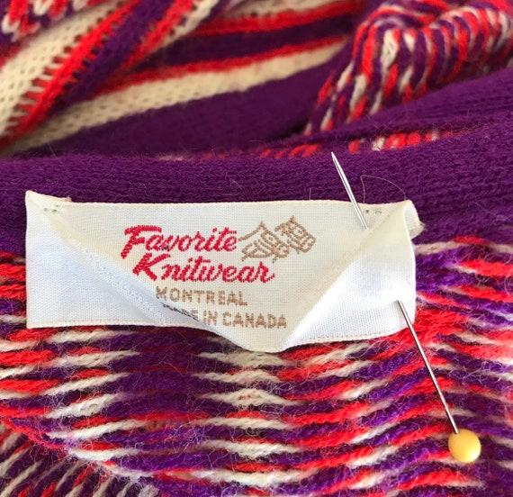 1960s Knit Long Vest, 1960s Wool Vest, Favorite K… - image 10