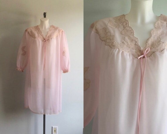 Vintage Nightgown, Vintage Pink Nightgown, 1960s N