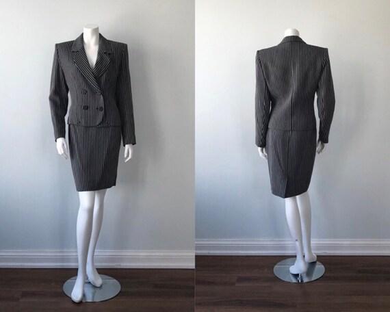Vintage Yves Saint Laurent Skirt Suit, 1980s Skirt
