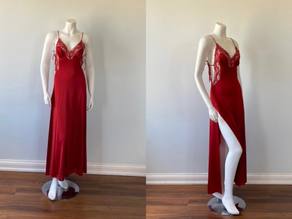 Vintage Deep Red Nightgown, Ralph Montenero for Bl