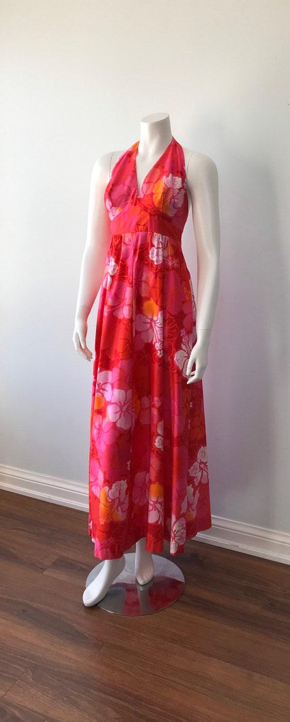 Vintage Halter Dress, Wika of Hawaii Ltd, 1960s H… - image 4