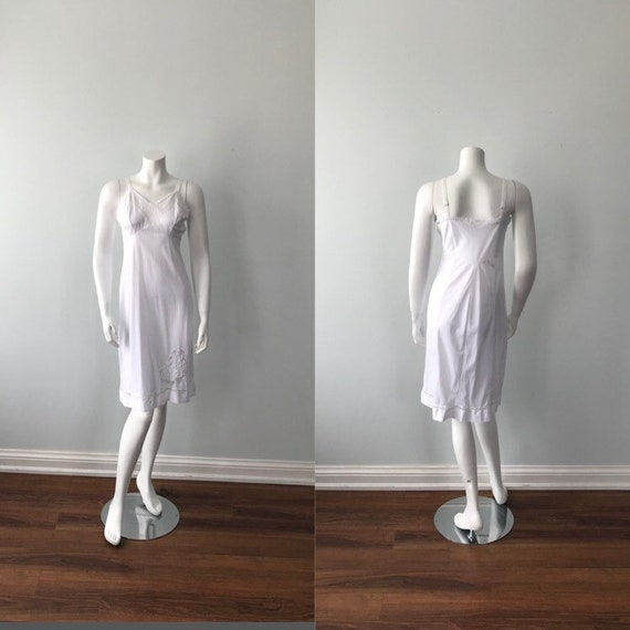Vintage White Full Slip, 1960s Full Slip, Vintage