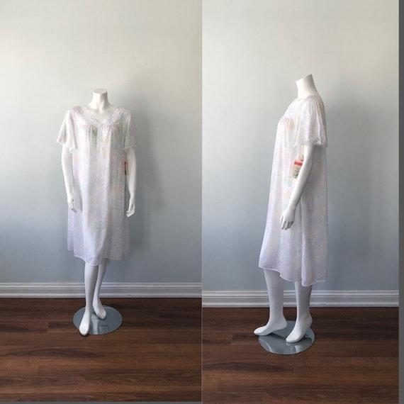 Vintage Lov Lee Nightgown, Vintage Floral Nightgow