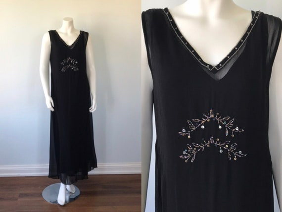Vintage Black April Cornell Dress, Evening Dress,