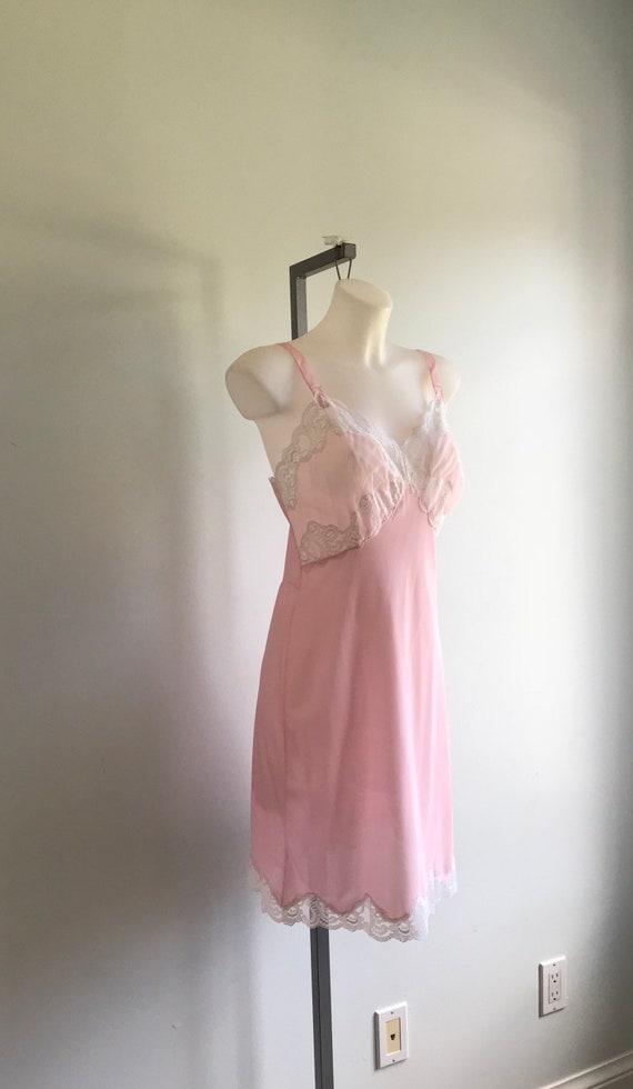 Vintage Pink Slip, Vintage Pink Full Slip, 1960s … - image 4