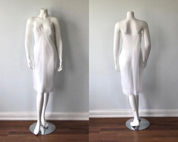Vintage White Full Slip, Freemans, 1960s Full Slip
