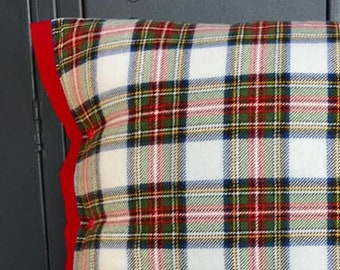 Red Tartan Plaid Flannel Pillow - FREE SHIPPING!