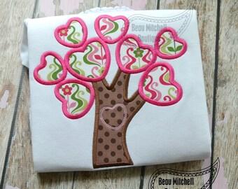 Heart Tree applique