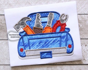 Tool Saw truck applique embroidery design