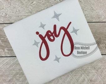 Joy embroidery design