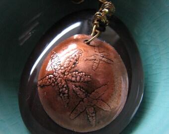 Stone pendant necklace | small starfish | copper pendant | nautical | ocean | Final Sale