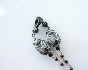 Gothic beaded eyeglass chain - womens eyewear, men, gemstone fashion chain