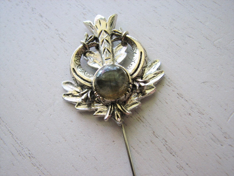 labradorite gemstone Lapel pin men southwestern style nature lovers