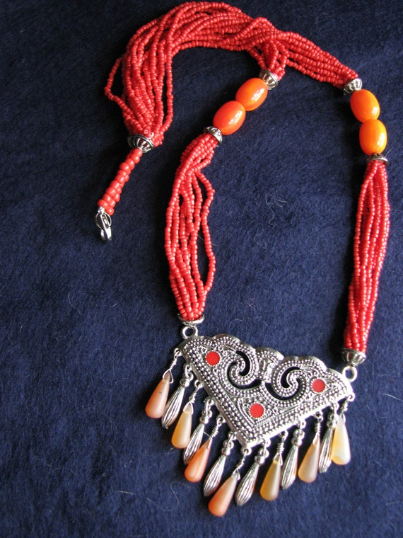 "45/"" VERY LONG MultiStrand Handmade Gold Color Bohemian Style Seed Bead Necklace"