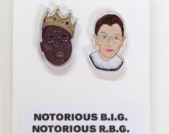Notorious B.I.G.  and  R.B.G Acrylic Earrings