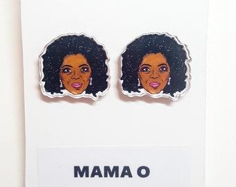 Mama O Acryl Ohrringe