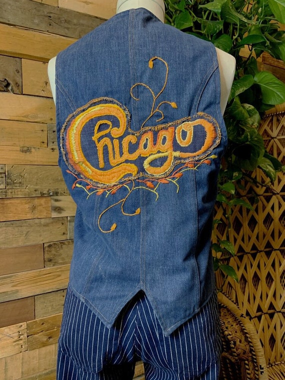 Handmade Chicago Denim Vest