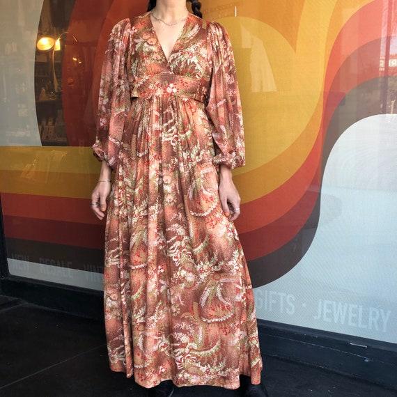 70's Fern Bishop Sleeve Dress