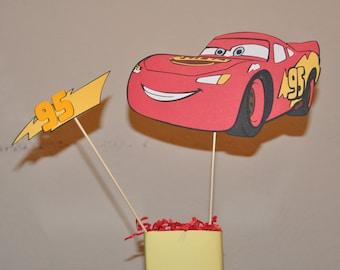 CARS-Lightning McQueen Centerpiece