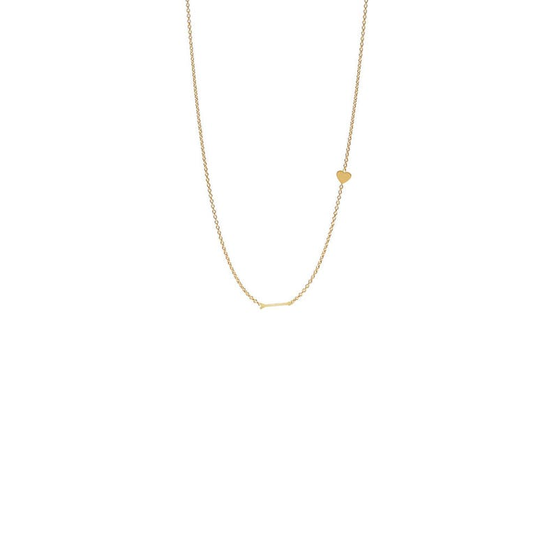 90fa6f29c9210 Heart and Arrow Necklace * 14K solid gold tiny heart and arrow necklace*  sideways heart and necklace * heart and arrow necklace