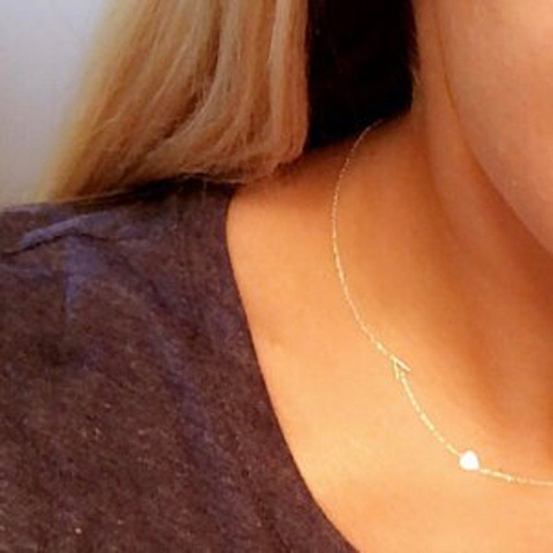 14k gold sideways letter necklace \u2022 multiple letter or number necklace \u2022 side initial necklace \u2022 white gold letter necklace \u2022 new mom gift