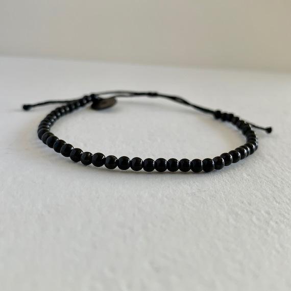 Stainless Steel Handmade from Sweden Crystal Bracelet Black Tourmaline Gemstone Fairtrade