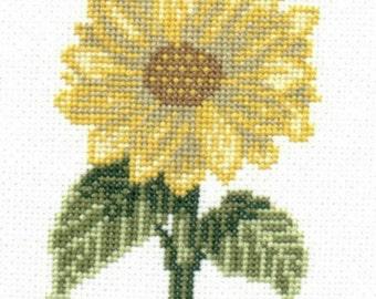 Sunflower counted cross-stitch chart