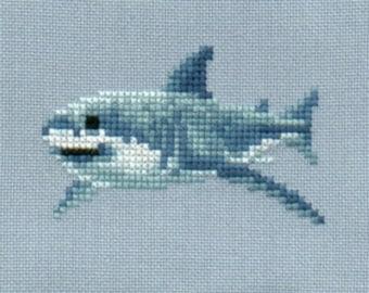 Great White Shark 1 cross stitch chart