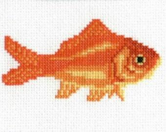 Goldfish counted cross-stitch chart