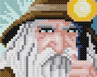The Wizard counted cross-stitch design