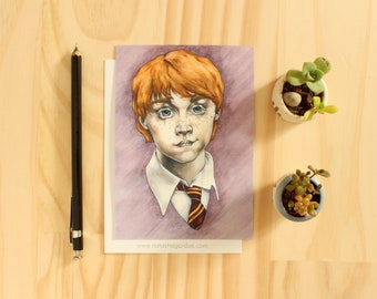Ron Weasley - Art Postcard