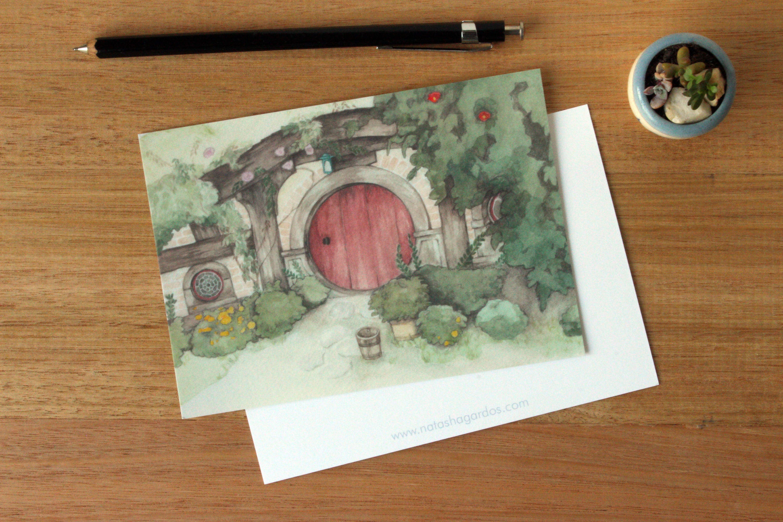 Hobbit Hole Postcard 3 pack
