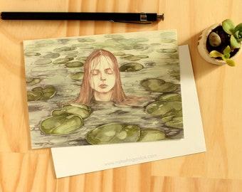 Water Nymph - Art Postcard