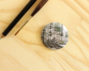 Cabeswater Pin. Button. Pinback Button. Badge. The Raven Cycle. YA fantasy
