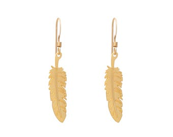 Gentle Feather Earrings for Women and Girls, Feather Jewelry, Girlfriend Gifts, Best Friend Gift, Teenage Girl Gift, Gift Under 40, BFF Gift